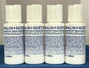 Lot of 4 Malin+Goetz Grapefruit Face Cleanser ~ 1 oz Each NEW