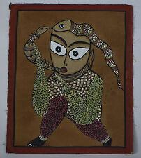 India Vintage UNIQUE Kalighat Painting  ??????????????- BM010