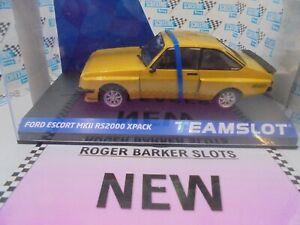 """Team Slot ref 13002 Ford Escort Mkll RS2000 X-pack """"yellow""""     BNIB"""