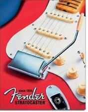 Fender Stratocaster Since 1954 TIN SIGN Metal Poster Guitar Studio Wall Decor