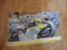 POSTER ANNO 1996 - ALEX BARROS e MOTO HONDA NSR 500 GP