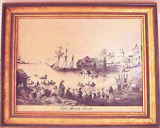 WILLIAM H. BARTLETT (1809-1854) - ENGRAVING ON COPPER - FISH MARKET, TORONTO