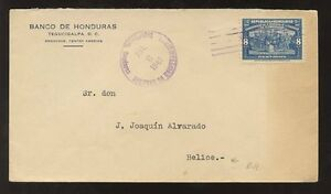 BRITISH HONDURAS 1941 TEGUCIGALPA to BELIZE