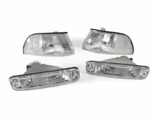 Depo Clear Corner Lamps + Bumper Signal Lights For 90-91 Acura Integra Gs / Ls