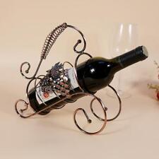 TYJJ-012 Iron Manualidades Decoración Hogar Botellero Metal Retorcido Uva Vino