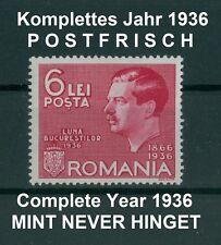 Rumänien 1936 komplettes ** Jahr,Mi.508-523,Complete Year 1936