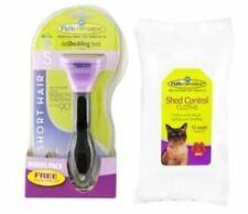 FURminator Small Cat Deshedding Tool For Short Hair Bonus Pack