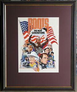 Bernard Tate 1979 Large Original Painting American Movie Roots II Poster Design