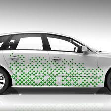 Seitendekor Auto Aufkleber Abstrakt Cyber Pixel Quadrate Sticker Tuning #1302