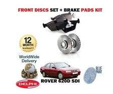 FOR ROVER 620D SDi 1996-1999 NEW FRONT BRAKE DISCS SET + DISC PADS KIT