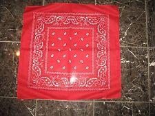 LOTE 12 ( 1 dozen ) 55.9cmx55.9cm motivo cachemira rojo bandana