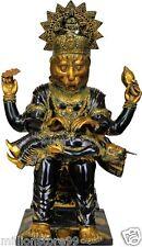"Master Statue Narasimha Avatar Ji God Vishnu 25.3""Large Brass Hindu Figure 26 KG"