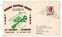 Australia 1952 GEEBEX Illustrated Cover to UK Special Cancel X3972