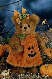 "10"" JENNA JACK O LANTERN *Bearington Teddy Bear*NEW*NWT*HALLOWEEN*Pumpkin*181326"