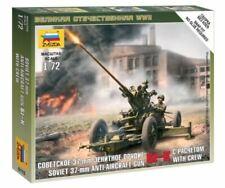 Zvezda 1/72 figuras – Soviética 37mm Anti Aircraft Gun 61-K con equipo Z6115