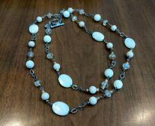 Bead & Sterling Silver Necklace Silpada N1504 Pearl, Quartz, Riverstone, Cocoa