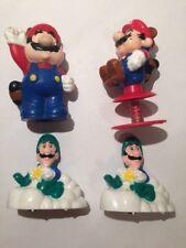 Vintage Lot x4 1989 Nintendo Mario and Luigi Toy Rare Figure Racoon Tanooki b2