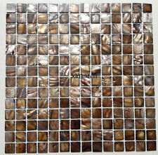 11PCS coffee shell mosaic mother of pearl background kitchen bathroom wall tile