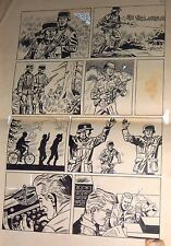 MARIO BERTOLINI ORIGINAL ART PAGE WAR II GERMAN COMIC ARGENTINA 1960s HORA CERO