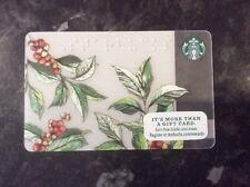 ❤ 💋 Starbucks Card  ' Coffee Bean Plant In Braille ' Unused