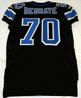 #70 Victor DeGrate of Detroit Lions NFL Game Issued Alternate Jersey