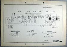 ITT/GRAETZ Susi 830 Schaltplan