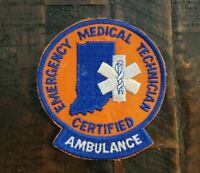 """INDIANA EMERGENCY MEDICAL TECHNICIAN CERTIFIED AMBULANCE Patch. 4""""    Free S/H"""