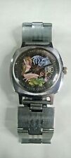 Vintage Sowjetische mechanische Armbanduhr Slava bemalten Zifferblatt Gin Mädche...
