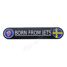 "SAAB ""Born From Jets"" Chrome & Colors Badge Emblem 9-5 3D decal 93 aero XC90 900"