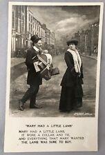 1905 Bamforth MARY Had LITTLE LAMB Shopping SPOOF Wife RPPC Real PHOTO POSTCARD