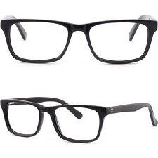 Eckig Damen Herren Brille Plastik Fassung Federschanier RX Acetatfassung Schwarz