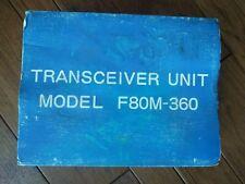 1986 FUJITSU AMERICA Cellular Transceiver Mobile Car Phone F80M-360 - New in Box
