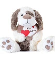"BRAND NEW 10"" BROWN VALENTINES TRUE LOVE HEART TEDDY BEAR PLUSH SOFT TOY"