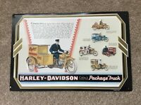 """Harley Davidson """"Package Truck """" Tin sign new in box"""