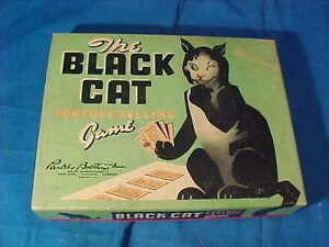 Orig 1930s The BLACK CAT Fortune Telling CARD GAME by PARKER Bros
