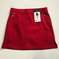 Rafaella Women's Red Comfort Skort  Brand New