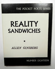 POCKET POETS 18 REALITY SANDWICHES ALLEN GINSBERG 12pVF