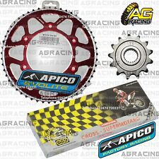 Regina 520 RH Chain Apico Sprocket Set 13T 52T Rear Red For Honda CRF 250R 2010