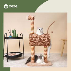 Zeze Cat Scratch Unicorn/Zebra/Giraffe Climbing Tree Scratching Broad AU STOCK