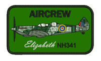 11.5cm x 6.5cm AIRCREW Elizabeth NH341 iron and/or sew on Embroidered Patch
