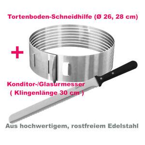 Zenker Tortenbodenschneidhilfe + Konditor Glasurmesser, Edelstahl