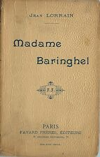 RARE EO 1899 JEAN LORRAIN + SUPERBE DÉDICACE À PAUL OLLENDORFF  MADAME BARINGHEL