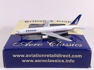 BRITANNIA AIRWAYS Boeing 767-300 G-OBYH Aircraft Model 1:400 Scale Aero Classics