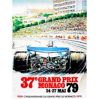 VINTAGE ADVERT TRANSPORT GRAND PRIX MONACO NEW FINE ART PRINT POSTER PICTURE 30x