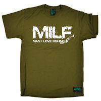 MILF Man I Love Fishing T-SHIRT Fishing Fish Angler Bait Funny Gift Birthday
