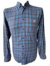 LACOSTE 5182L Herrenhemd Gr. S Blau Lila Kariert Langarm Hemd Shirt Blue Purple