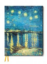 Van Gogh Starry Night Sketchbook 8.5 x 11 in. Hardcover Foil Cover Sketchbook
