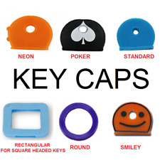 KEY CAPS TOP COVERS Assorted Colours Head Caps Tags ID Markers Key Ring
