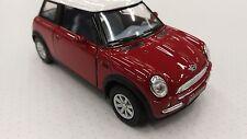Nuevo Mini Cooper Marrón Coche Juguete Modelismo 1/28 Modelo a Escala de Metal