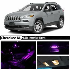 15x Purple LED Interior Lights Package Kit for 2014-2015 Jeep Cherokee KL